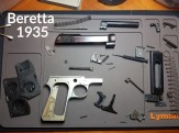 Beretta 1935 Detailed Disassembly with Label