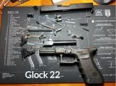 Glock 22 Detailed Disassembly with Label